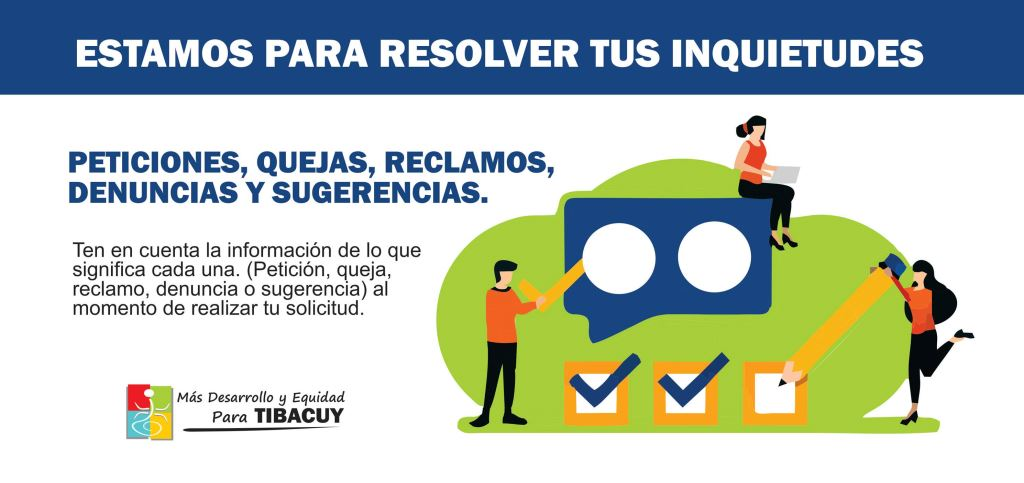 Compártenos tus peticiones, quejas, reclamos, denuncias y sugerencias. -  Alcaldía Municipal de Tibacuy en Cundinamarca